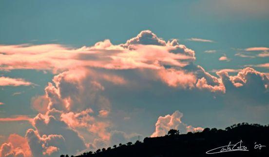 Nubes de rosa